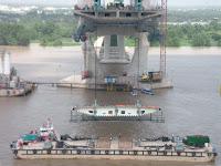 Trabajos en el Puente de Can Tho - Vietnam
