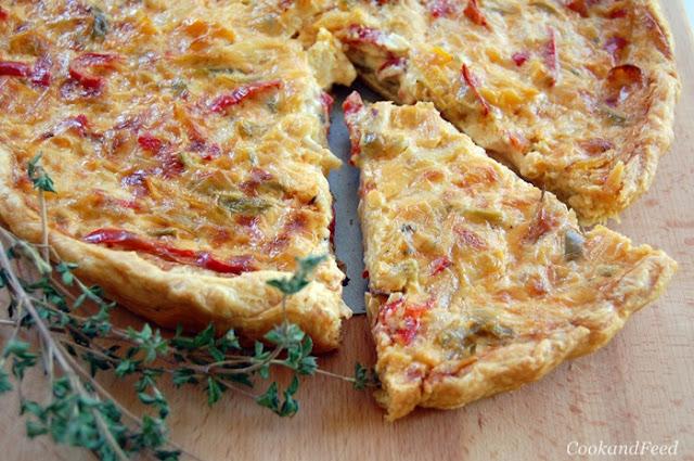 Εύκολη τάρτα με πιπεριές και Βολάκι Άνδρου/Cheese And Pepper Tart