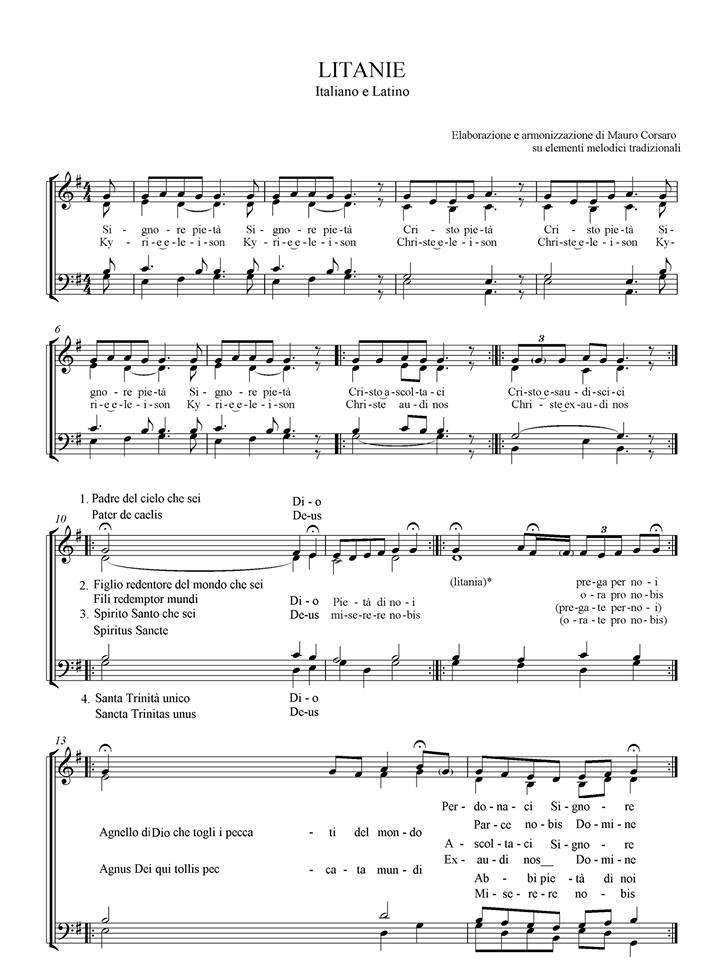 spartiti musica sacra