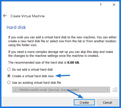 Create a Virtual Hard Disk
