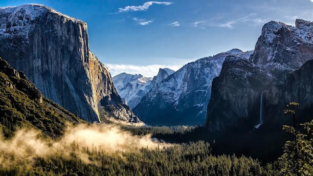 Descarga fondo de pantalla 4K paisaje montaña