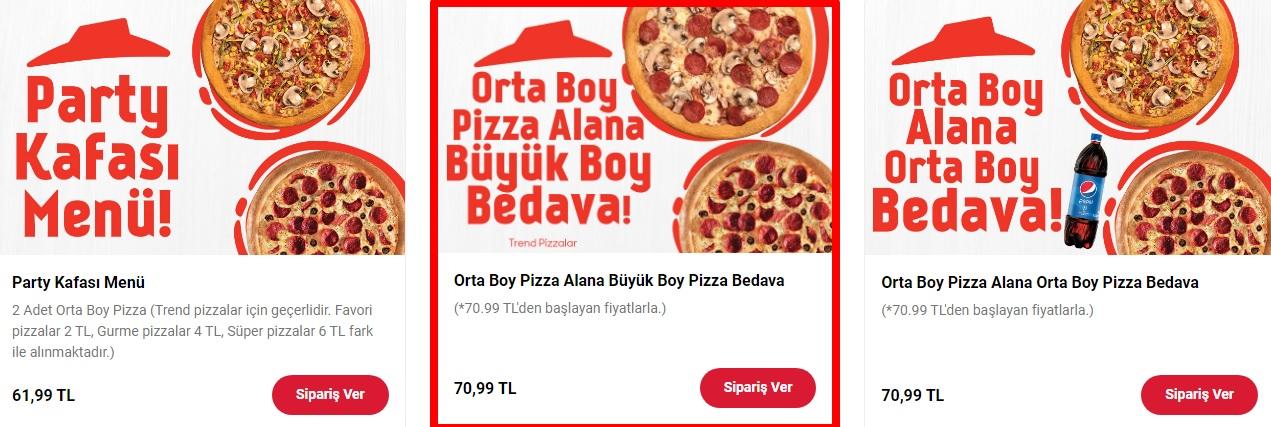 pizza hut kampanyaları parrty kafası menü  fırsatı 2021 online sipariş