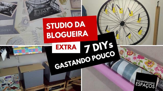 7 DIYs Gastando Pouco na Organização e Decor do Studio da Blogueira