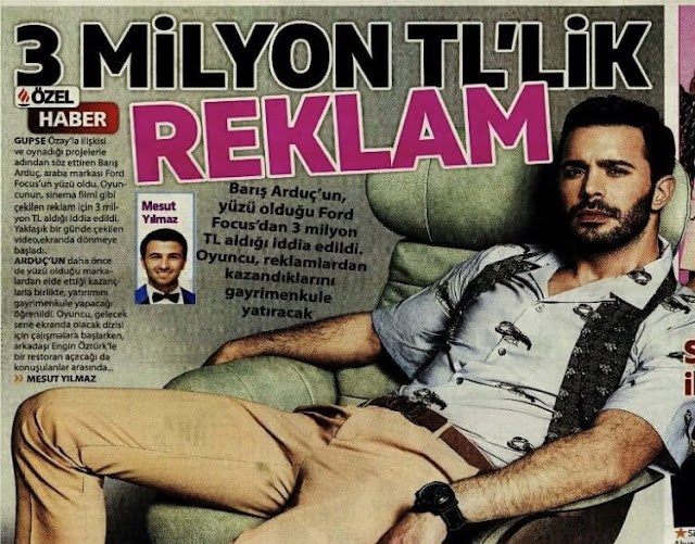 Barış Arduç received 3 million per minute