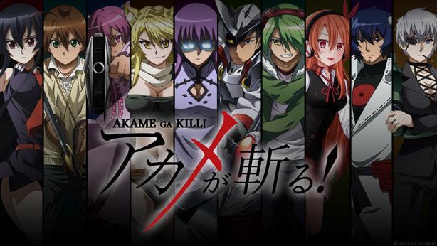 Top Anime Like Tokyo Ghoul - Akame Ga Kill