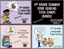 3rd Grade Common Core Reading Task Card Bundle