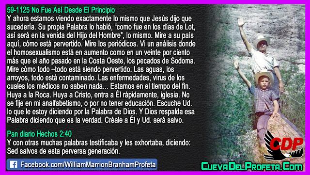 Los pecados de Sodoma - William Branham en Español