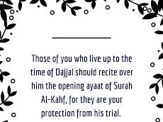 Lindungi diri daripada DAJJAL melalui surah AL-KAHFI