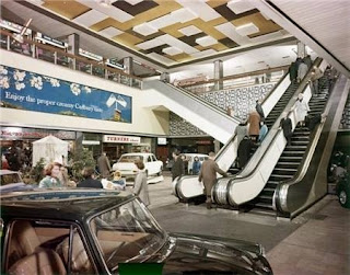 P J Evans sale exhibit in the Bull Ring Birmingham 1964