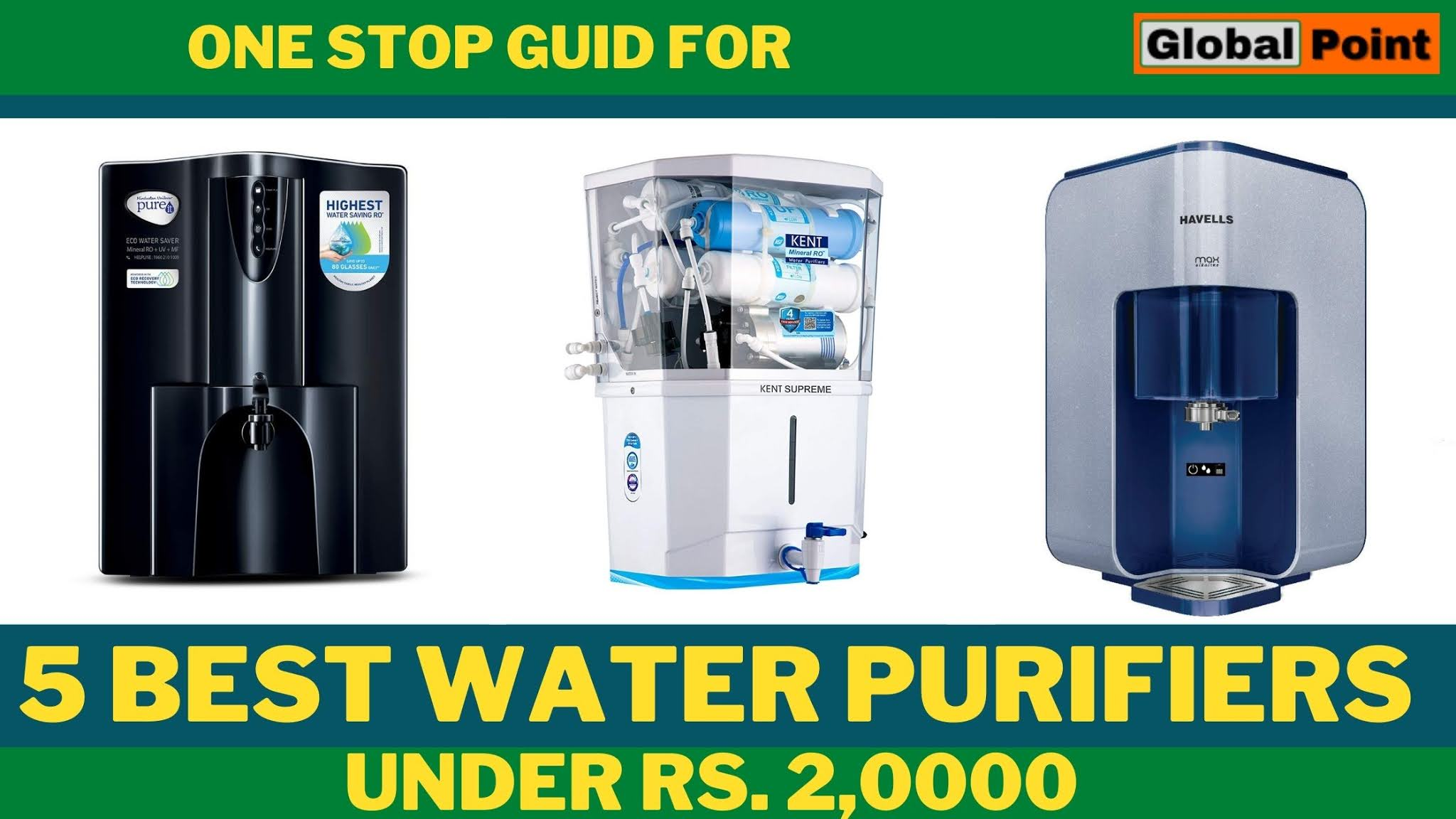 Top 5 Best Water Purifiers Under 20000
