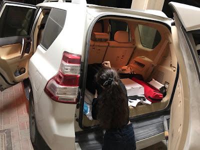 استعداد الصغار للسفر بالسيارة