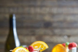 Frozen Raspberry Peach Sangria
