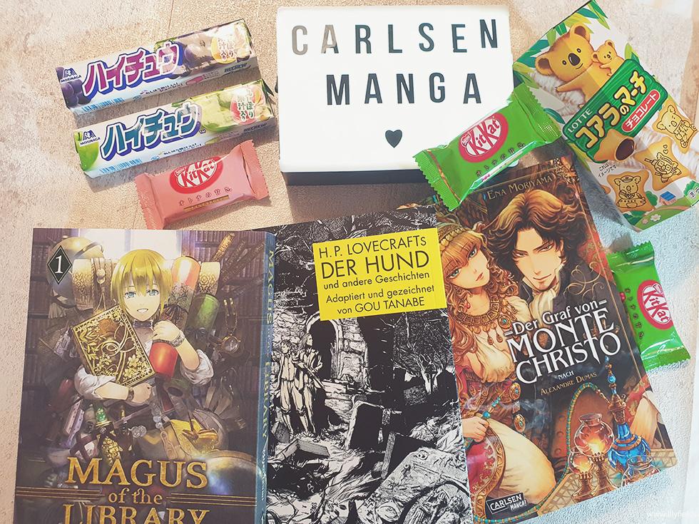 Carlsen Manga - Magus of the Library, Der Graf von Monte Christo und H.P. Lovecrafts Der Hund und andere Geschichten