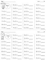 Free Fact Drills Multiplication