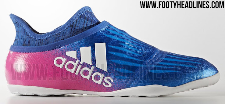 the best attitude 15bfb 6556c This is the indoor edition of the Blue Blast Adidas X 16+ PureChaos soccer  shoes.
