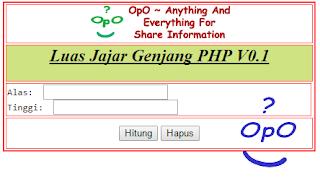 OpO - Menghitung Luas Jajar Genjang Menggunakan PHP Dan HTML