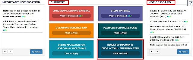 How to DownloadCheck WBSCTE Diploma Result Online