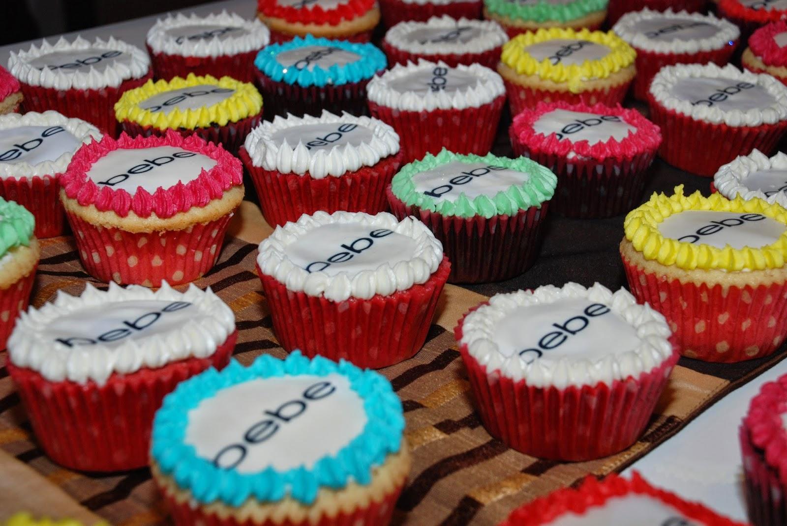 Bebe Logo Cupcakes