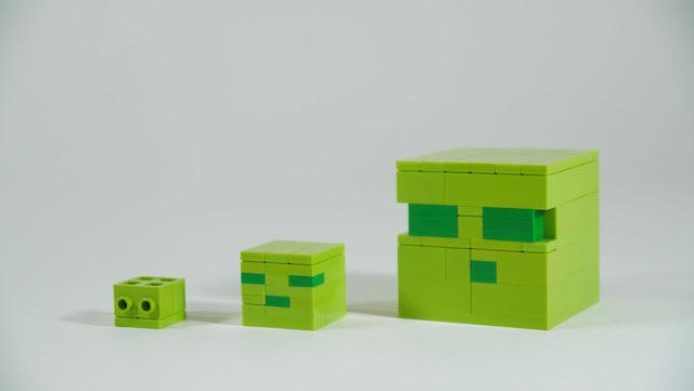 Mob de minecraft hecho con ladrillos de juguete