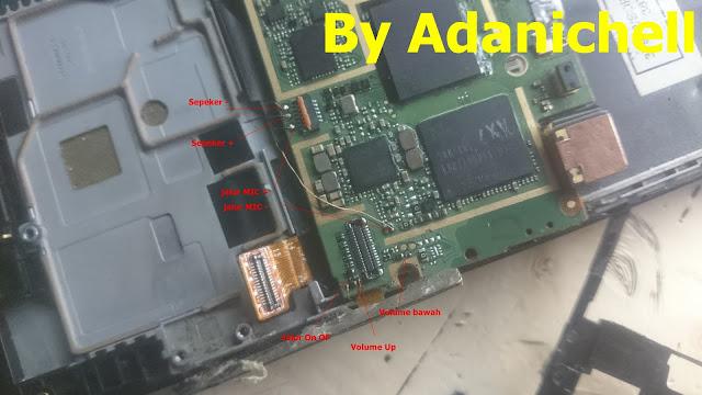 Jalur Mic Speaker On Off Volume Up Volume Down Lenovo A6000