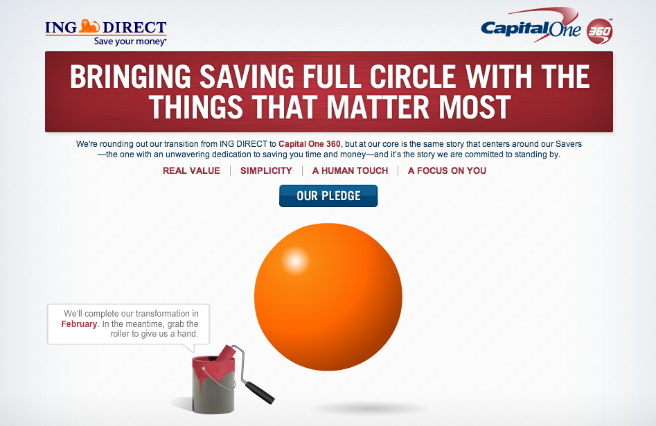 Cold Fusion Guy: INGDirect to become CapitalOne360