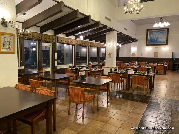 dining room at Hotel Jogakura in Amori, Japan