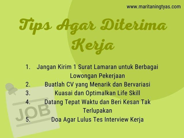 tips agar diterima kerja dan lolos interview