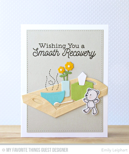 Handmade card from Emily Leiphart featuring Feel Better stamp set, Somebunny I Love stamp set and Die-namics, Bedside Comfort and Blueprints 29 Die-namics #mftstamps
