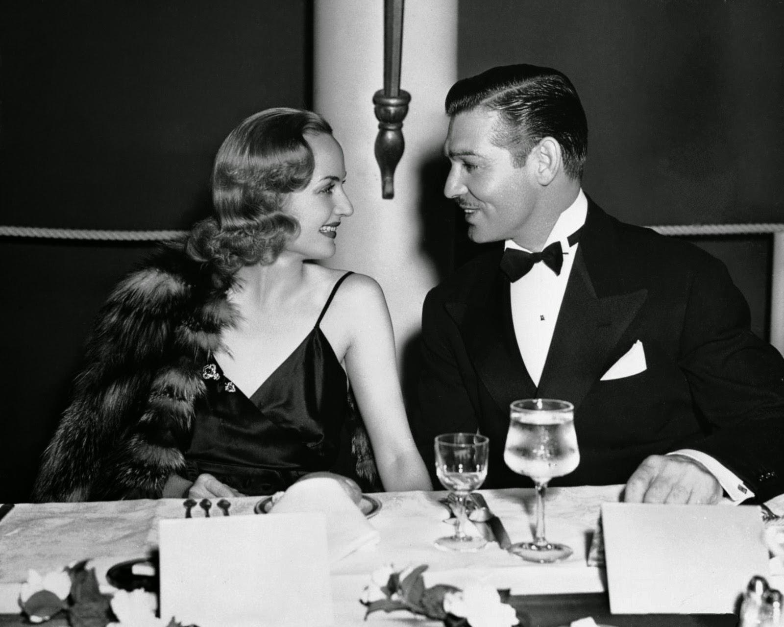 Carole Lombard y Clark Gable en 1939