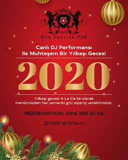 Old English Pub İstanbul Yılbaşı Programı 2020 Menüsü