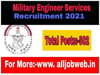 Military Engineer Services (MES) Recruitment 2021 - 502 Apply For Draughtsman & Supervisor Vacancy