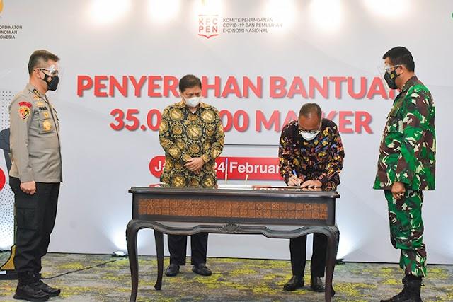 Kemenperin Berikan 35 Juta Masker ke Masyarakat Melalui TNI/Polri