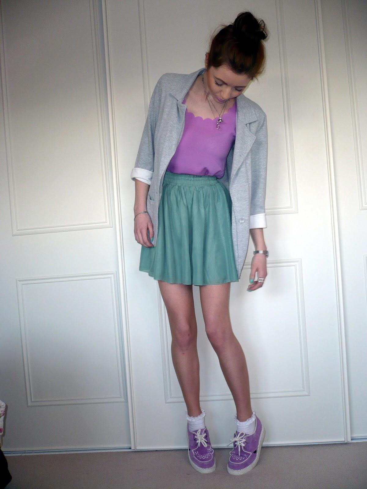 Hannah Louise - Asos Duster Coat, Primark Pinstripe Jumper