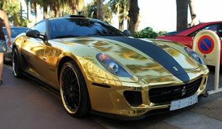 Hamann Ferrari 599 GTB clad in gold