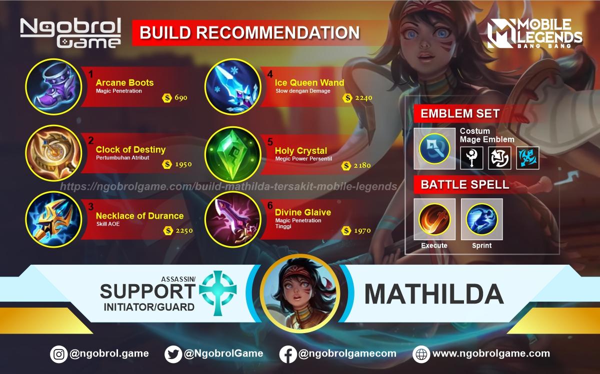Build Mathilda Tersakit 2020 Mobile Legends