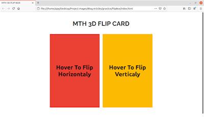 CSS FlipBox Front