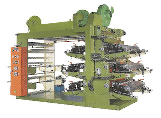 High Speed 6 Colors Flexographic Printing Machine With Stack Type