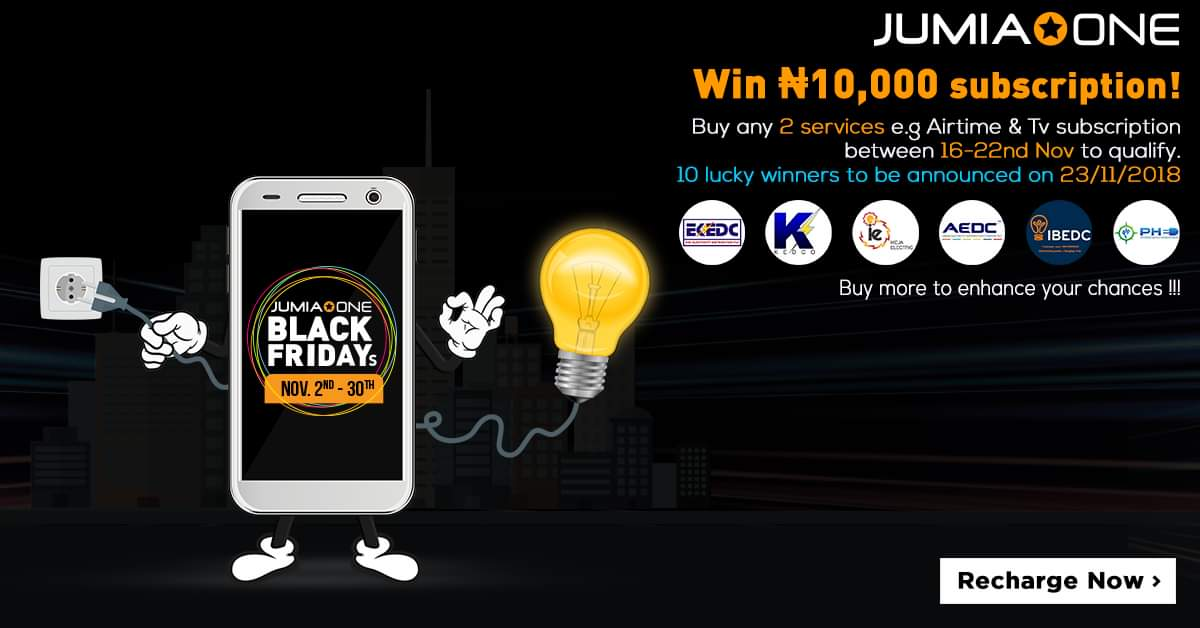 Jumia Black Friday Gifts and Giveaways