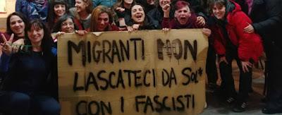 Migranti non lasciateci da soli con i fascisti