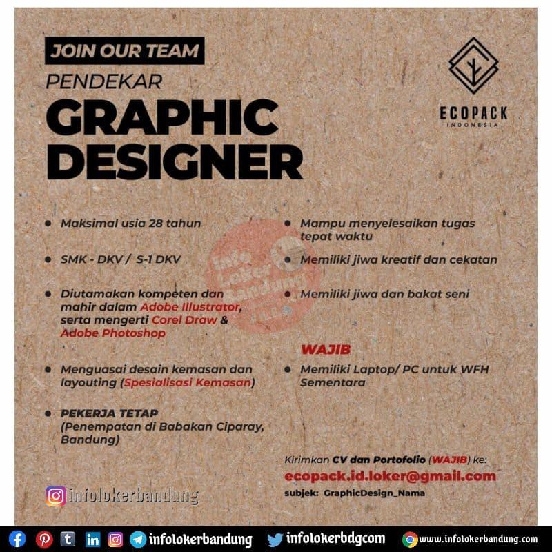 Lowongan Kerja Graphic Designer Ecopack Indonesia Bandung Juli 2021