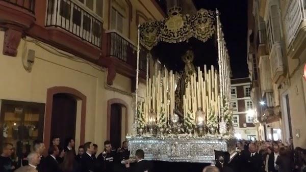 Viernes de Dolores en Cádiz: Virgen de los Dolores. Recorrido 3D