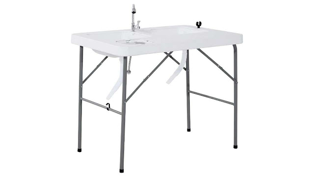 Outsunny Portable Folding Camping Sink Table