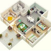 Gambar Denah Tempat tinggal Minimalis 3D Anyar 2017