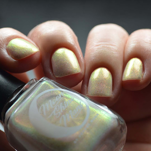 iridescent shimmer nail polish low light swatch