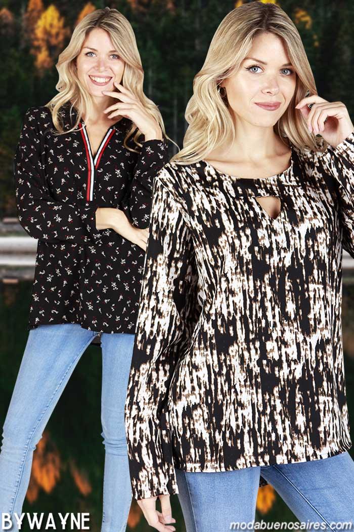 Blusas 2019 en talles grandes. Ropa barata, precios bajos argentina. Moda mujer 2019 ropa barata.
