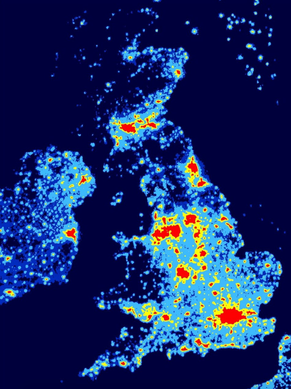Light pollution in UK