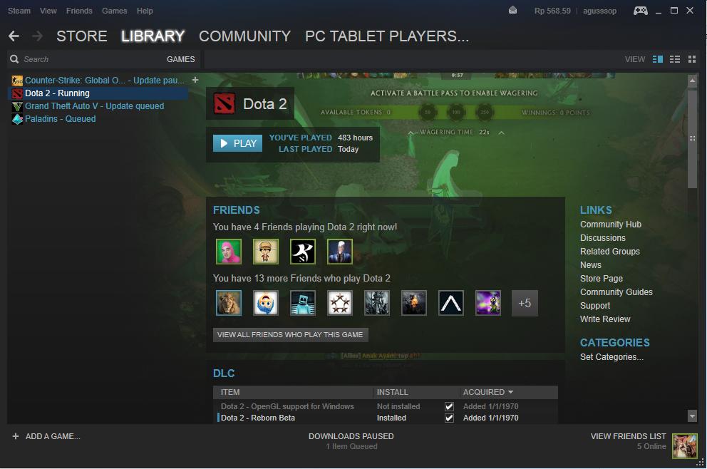 Game Dota 2 Hilang Dari Steam