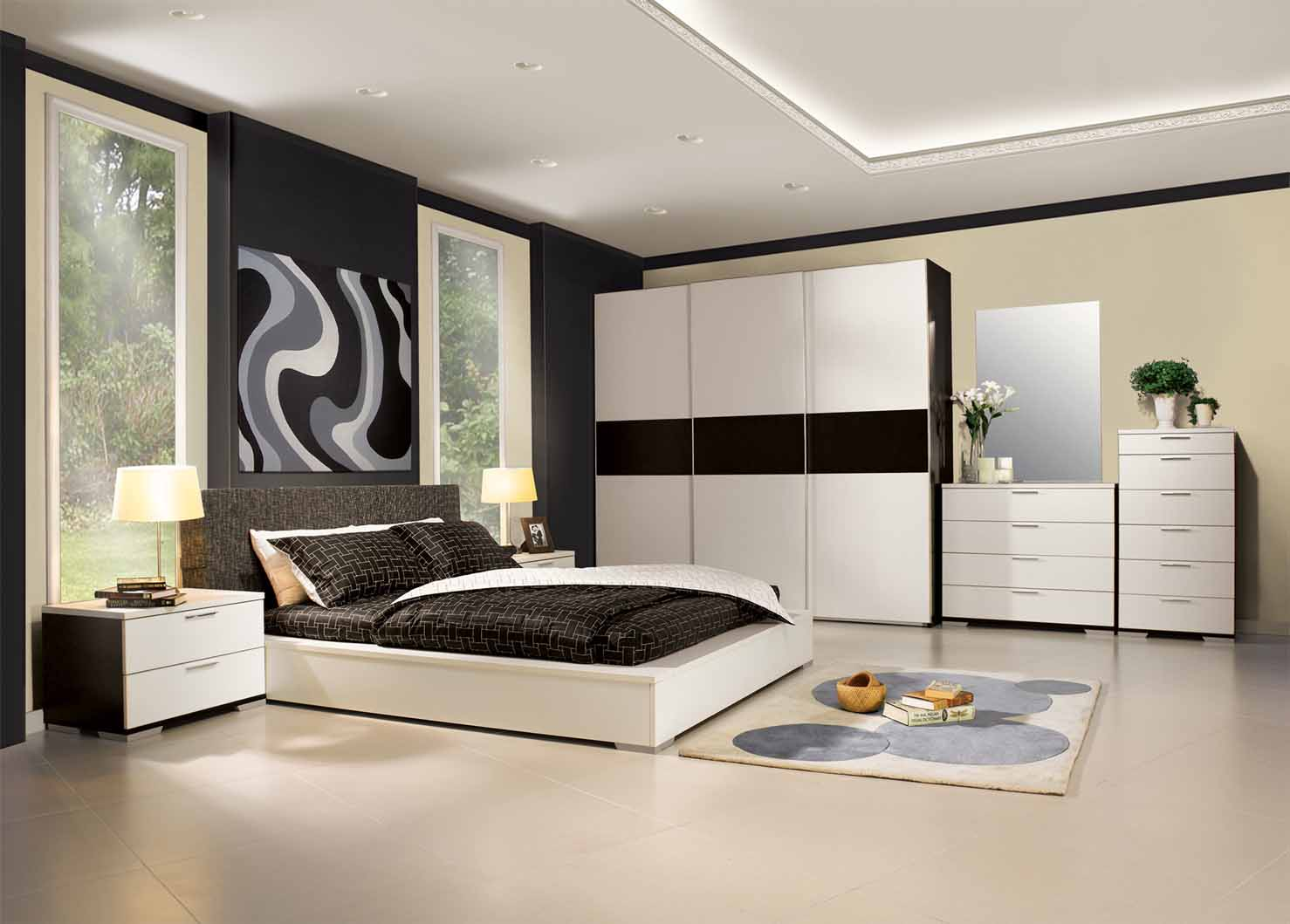 home interior designs modern bedroom ideas. Black Bedroom Furniture Sets. Home Design Ideas