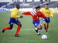 Chile y Colombia en partido amistoso, 30 de abril de 1993