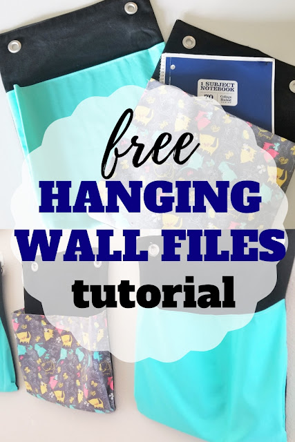 Learn to sew your own diy hanging wall files with this free tutorial.